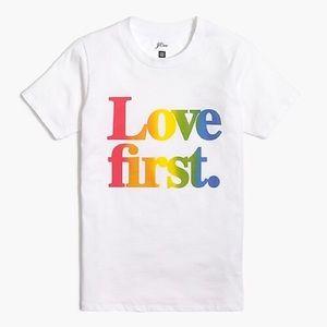 J. Crew Love First tee 💞